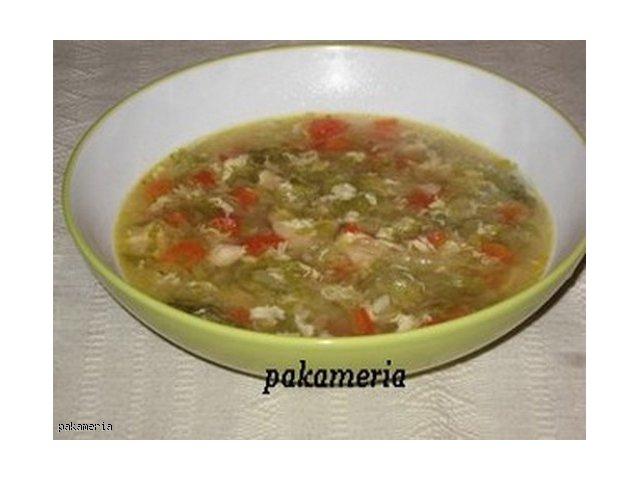 Zupa z kurczaka i kapusty pekińskiej