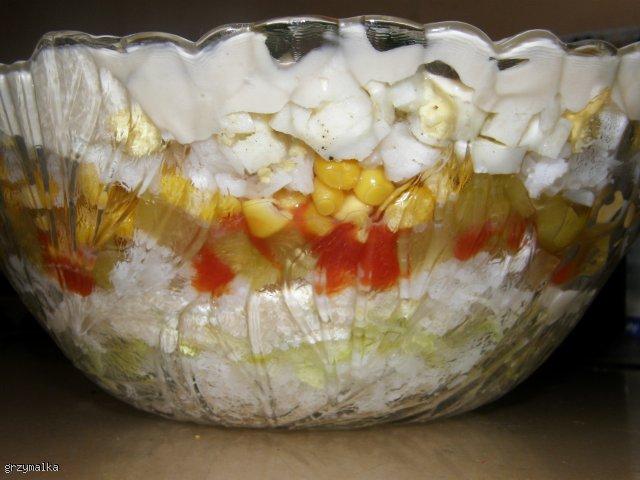 sałatka warstwowa ryżowa