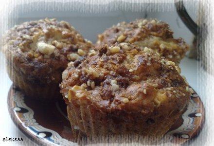 Muffinki korzenne z jabłkami