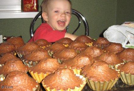 Muffinki bananowo - czekoladowe