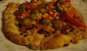 Pizza - ciasto z bazylią