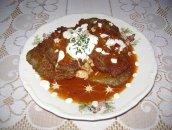 Placek po węgiersku ( z gulaszem drobiowym)