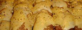 Krokiety pieczarkowe, zapieczone z serem