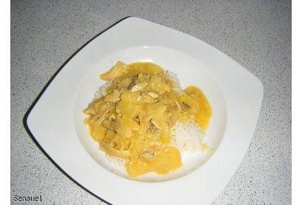 Kurczak w curry z ryżem - wersja.1