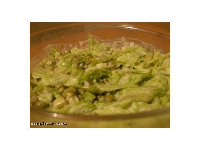 zielona sałatka z braku laku