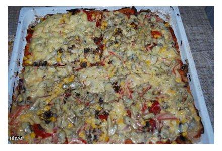pizza wegetariańska (dietetyczna :p)