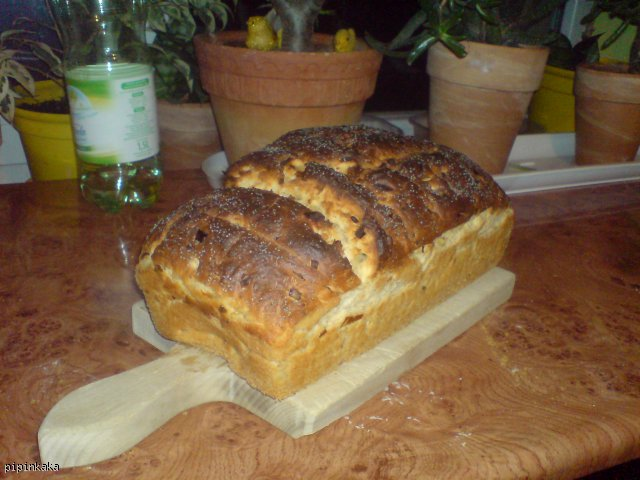 domowy chlebek z siemieniem lnianym