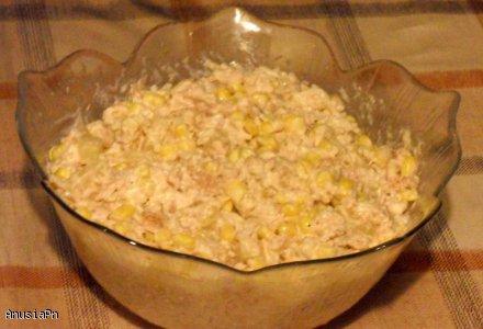 Salatka Z Tunczykiem Ananasem Kukurydza I Ryzem