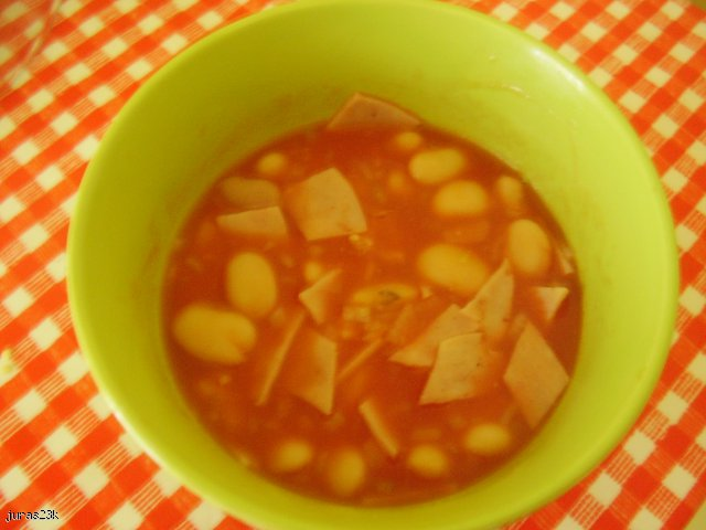 fasolkowo-pomidorowa zupka