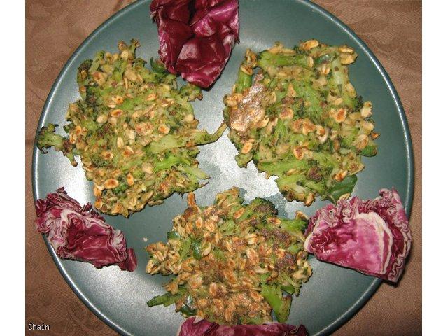 Placuszki z brokułu i płatków owsianych