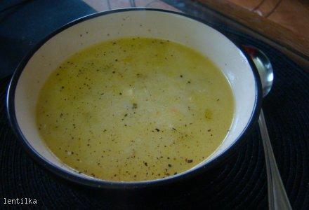Zupa z porów z mięsem mielonym i serkiem topionym
