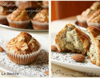 Muffinki makowo-migdałowe