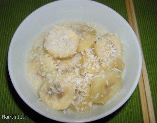 Banany w mleku kokosowym