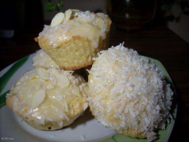 Muffinki cytrynowo - kokosowe