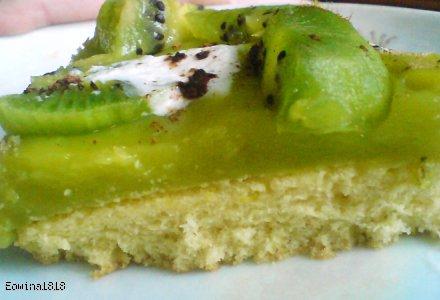 Wiosenne zielone ciastko