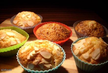 Muffinki z brzoskwiniami
