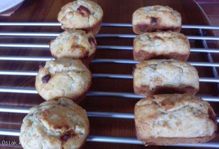 Muffinki bananowe z białą czekoladą