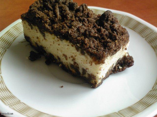 sernik z czekoladową kruszonką
