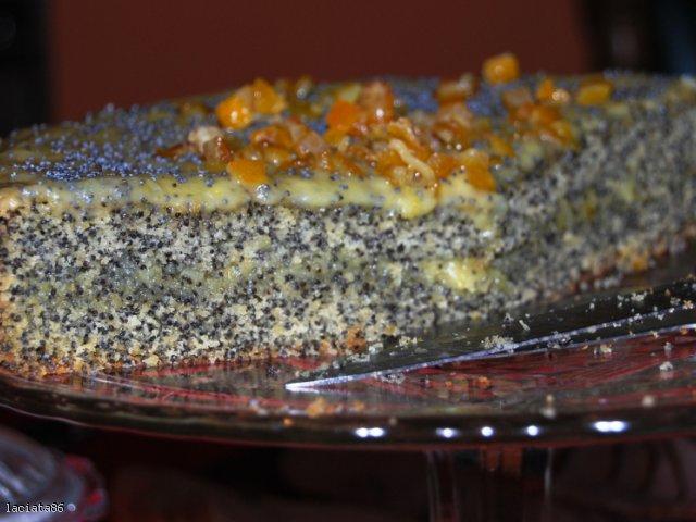 Ciasto z makiem i kremem waniliowym