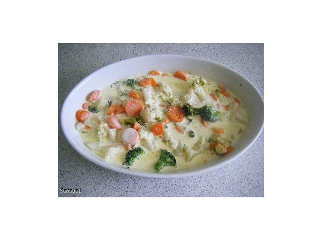 Warzywa zapiekane w śmietanie - jako dodatek do obiadu