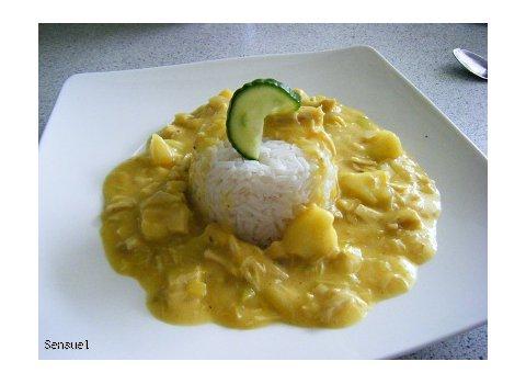 Kurczak w curry z ryżem - wersja.2