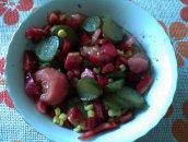 Sałatka paprykowo-kukurydziana, dietetyczna