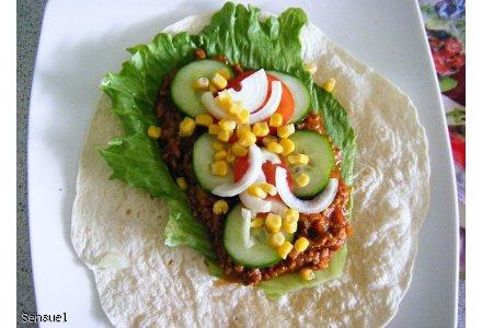 Tacos po mojemu czyli tortilla z mięsem mielonym