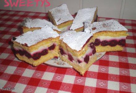 Ciasto owocowo-budyniowe