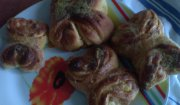 Chałwowe motylki- drożdżówki