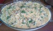Zapiekanka ziemniaczano-mięsna z pieczarkami