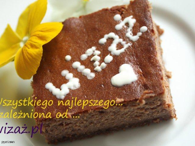 Mocno czekoladowy sernik