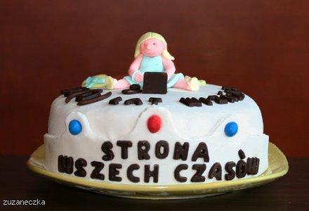 Wizażowy tort urodzinowy na 10 lecie Wizażu