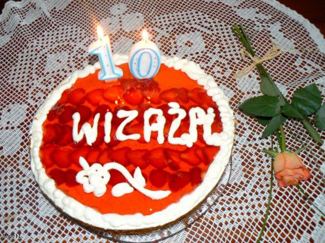 Tort na 10 urodziny wizaż.pl