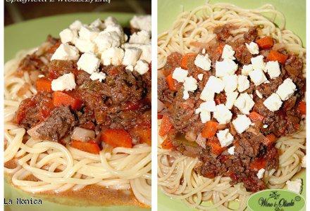 Spaghetti z włoszczyzną