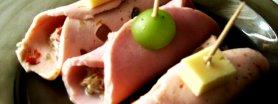 Zawijasy z szynki z pastą tuńczykową