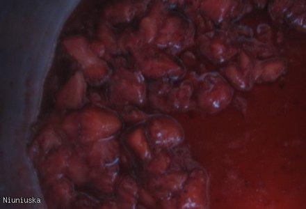 Deser ciepło-zimny z truskawkami