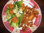 Warzywa na parze z kurczakiem