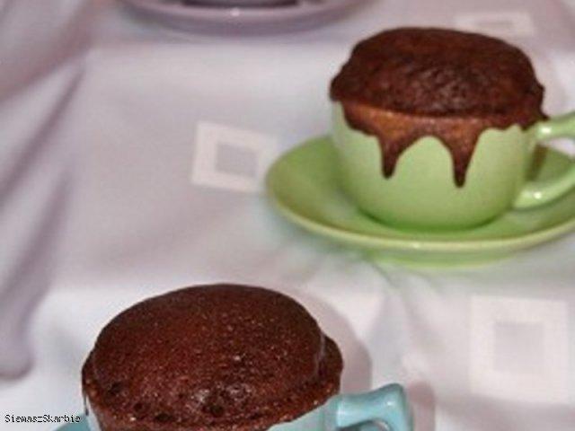 Ciasto kakaowe z mikrofalówki, na szybko