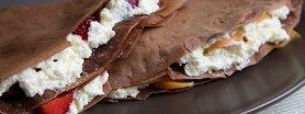 Czekoladowe naleśniki z mąki pełnoziarnistej