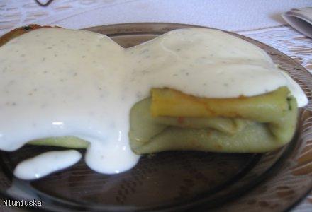 Naleśniki ze szpinakiem i serem