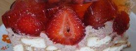Ciasto z truskawkami (na zimno)