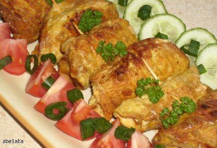 Pierś kurczaka marynowana w sosie sojowym