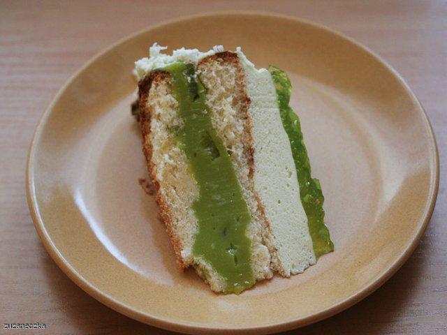 Zielone ciasto z kiwi