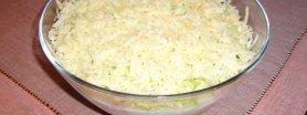 Sałatka z porem, jajkiem, serem i szynką