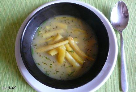 Szybka zupa z fasolki szparagowej