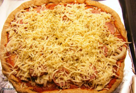 Pizza pełnoziarnista - ciasto