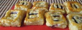 Ciasteczka francuskie z jagodami