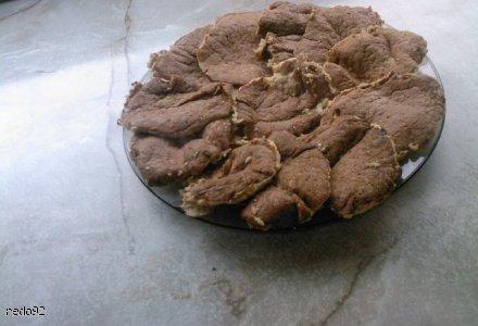 Fit placuszki z sosem kakaowym