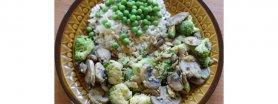 Pieczarki i brokuły w jajku