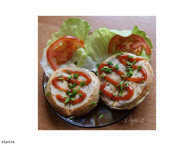 Grahamka zapieczona z serem
